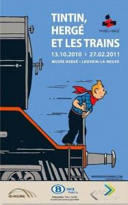 Affiche Expo Tintin et les Trains-2010