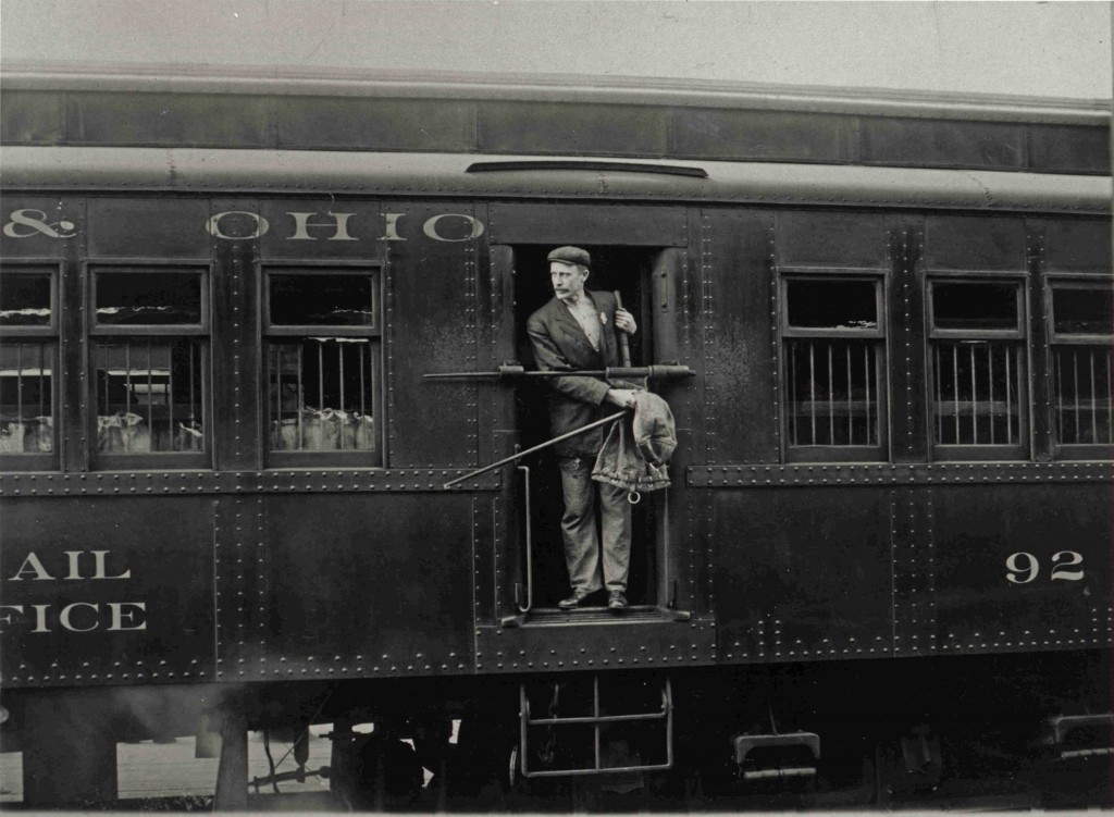 Railway_Post_Office_Clerk_in_Mail_Car