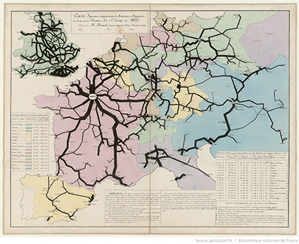 Railway Traffic Map 1862 Cj Minard Bagdcontext Csm